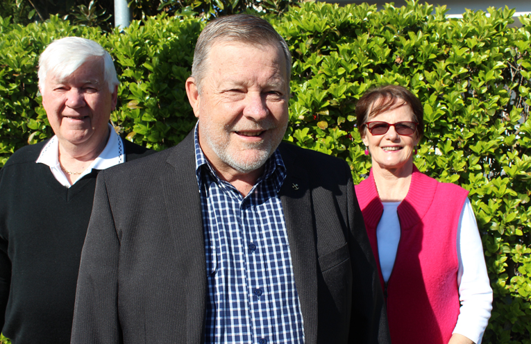 East Ward ALP team of Jim Morrison, David Simm and Roz Armstrong.