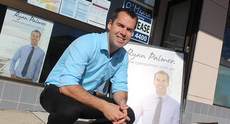 Ryan Palmer outside his office in Donald Street, Nelson Bay.