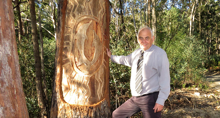 Len Roberts said the Land Council has plans to continue the carvings along the trail.