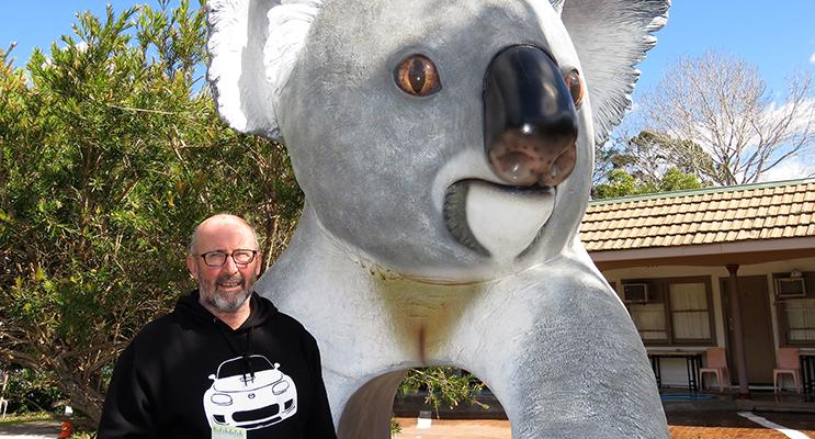 Patrick Bramston hopes the Big Koala will put the town on the map.