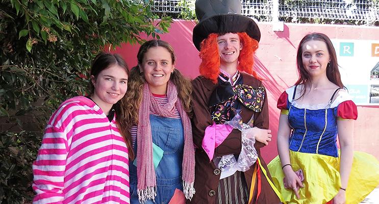 Chloe Haylett, Chelsea Reid, Hayden Crawford and Taylor Garemyn.