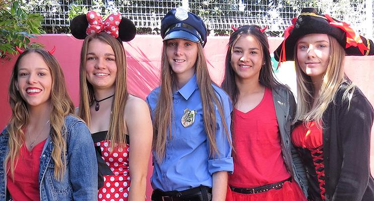 Madisson Morante, Rachel Rae, Megan Markham, Marley Mezi and Emma Miller.