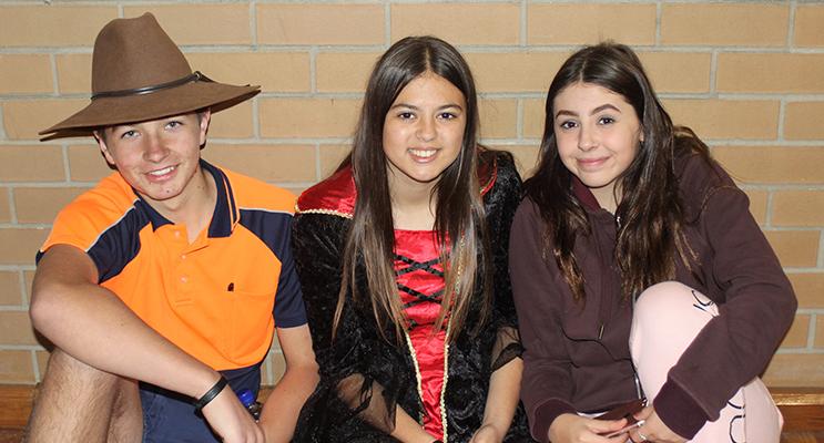 Kobi Watt, Jaylee Tassell and Alex Foot.