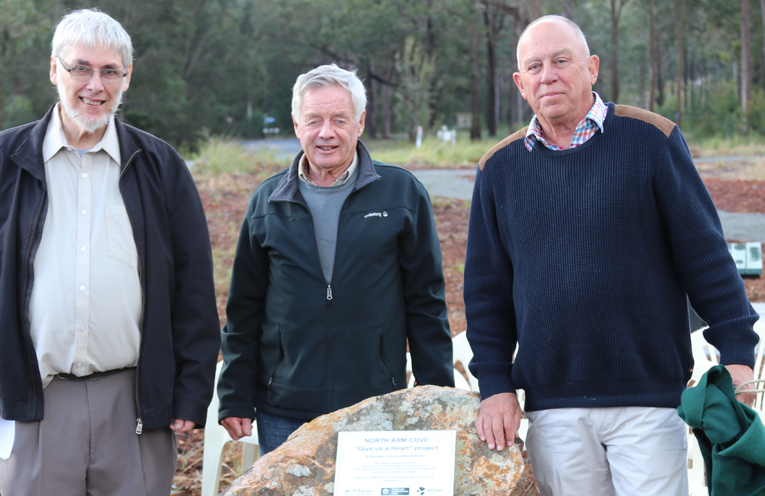 MidCoast Administrator, John Turner with Cove Residents Doug Kohlhoff and Len Yearsley.