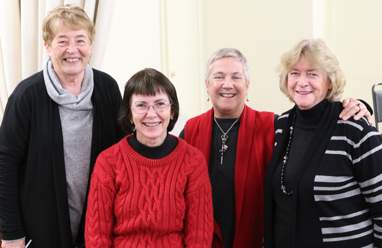 Four of the many contributors to the Cove Book: Maureen Kelly, Janine Reid, Elizabeth Deane and Moira Hooper.