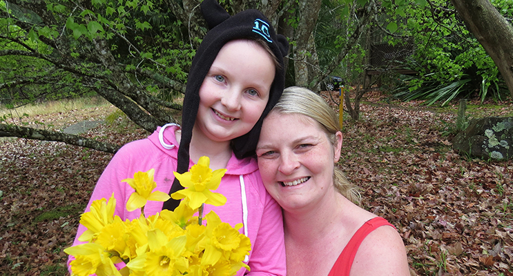 Daffodil Day: Sophie Hill-Mather and her mum Kylie hope for a future free from cancer.