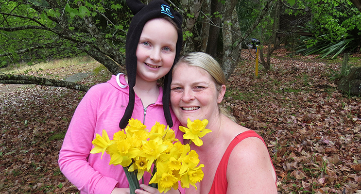 Daffodil Day: Sophie Hill-Mather and her mum Kylie.