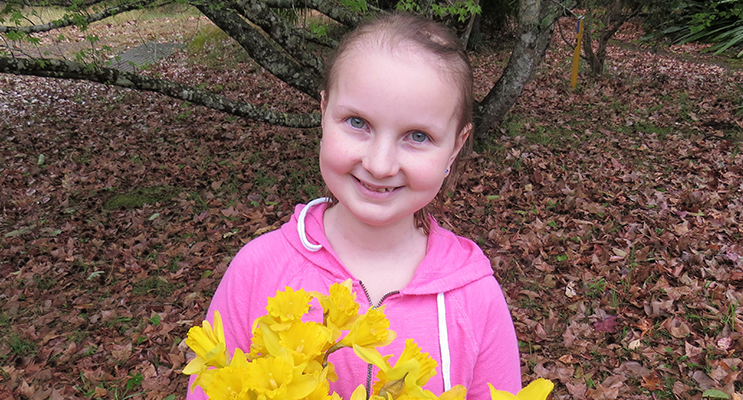 Daffodil Day: Sophie Hill-Mather shares hope for a cancer free future.