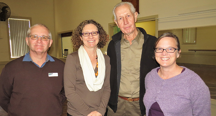MidCoast Strategic Planning Manager Roger Busby, Manager for Growth and Economic Development Deb Tuckerman, Coolongolook and Wootton Action Group President Brian Parry and Myall Coast Chamber President Jessica Harris.