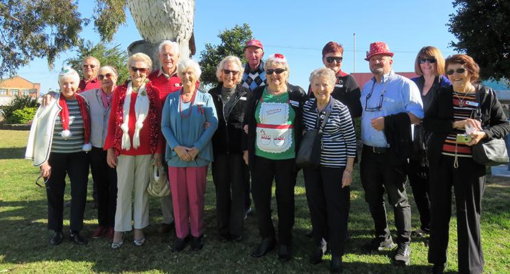 Port Stephens Probus Club at Kookaburra Park at Kurri Kurri on their magical mystery tour.