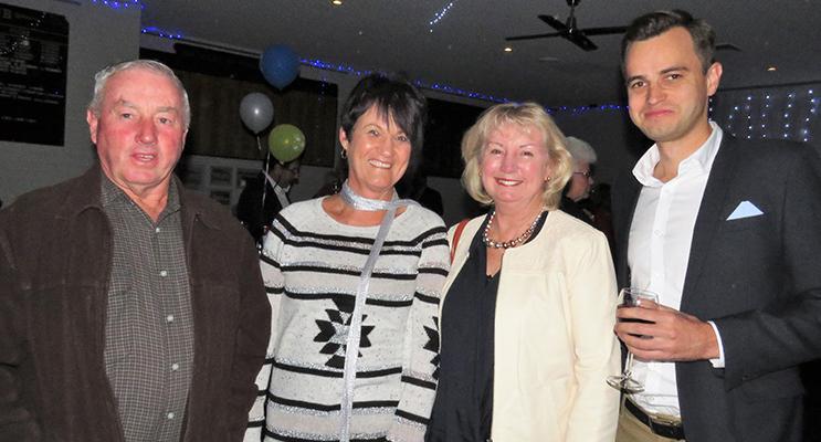 Gary Gooch, who turned the first sod, with Gloria Watt, Kerry Gooch and David Smith.
