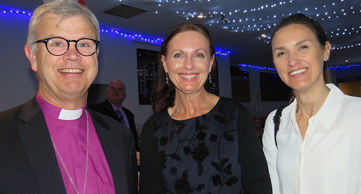 Bishop Peter Stuart, Anglican Care Marketing Manager Kylie Jacques and General Manager Amber Witherdin.