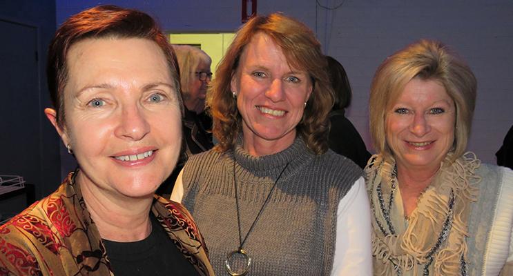 Community Celebration: Kerry Carter, Kathy Aquilina and Sheree Robards.