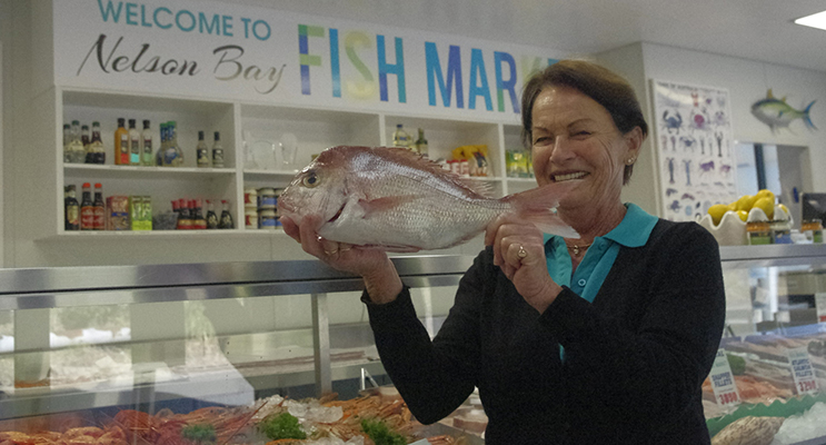 Narelle Momin with a snapper ready to cook on the barbecue.  Photos by Marian Sampson