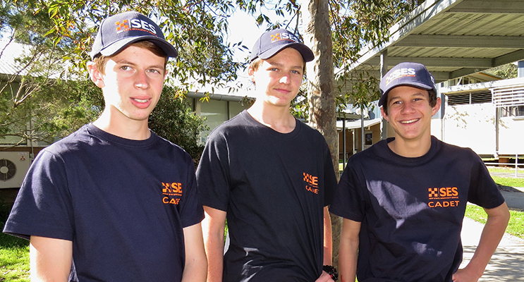 SES Cadets: William Manktelow, Bailey Middleton and Hunter Bramble.