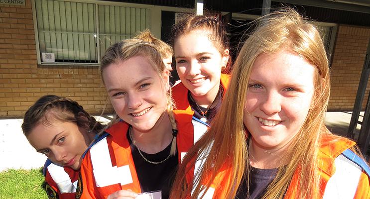 Cadets: Kya Morrison, Georgia Gillett, Olivia Evans and Olivia Tuohy.