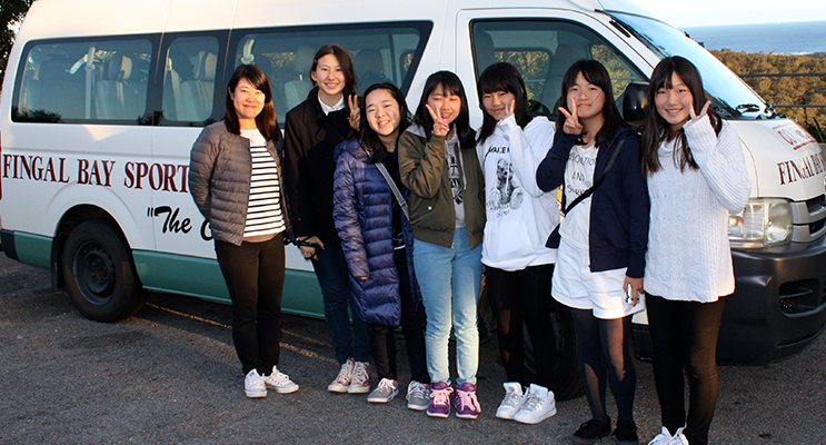 The students during sister city visit.