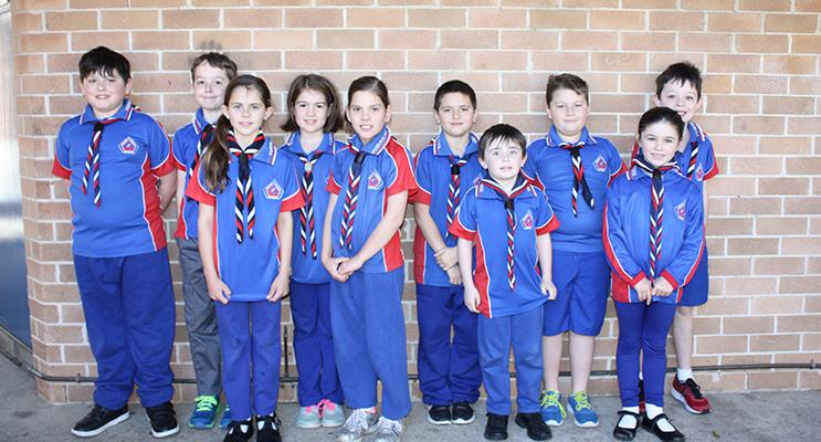 1st Medowie Scouts - Rhiley Page, Zander Wade, Eva Bailey, Jessica Hooper, Josie Pritchard, Mircaih Kalischer, Lucas Stokes, Kayne Conroy, Lisa Bailey and Lincoln Wade.
