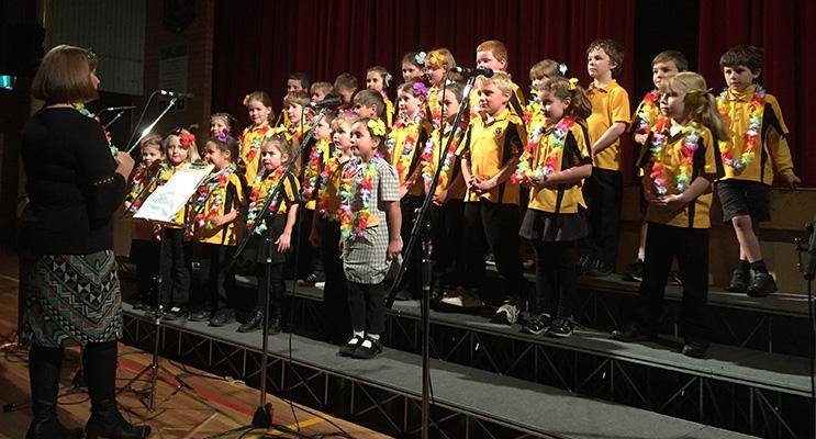 Medowie Public School junior choir performed beautifully.