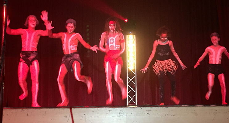 The Aboriginal dance group opened the showcase after a moving acknowledgement of country.