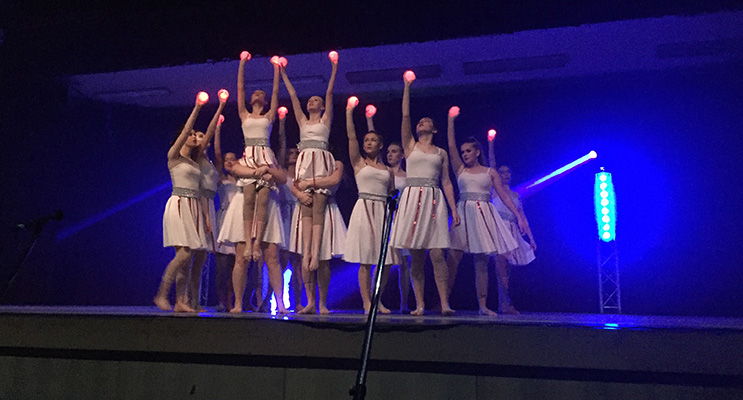 Irrawang girls incorporated orbs into their enchanting performance.