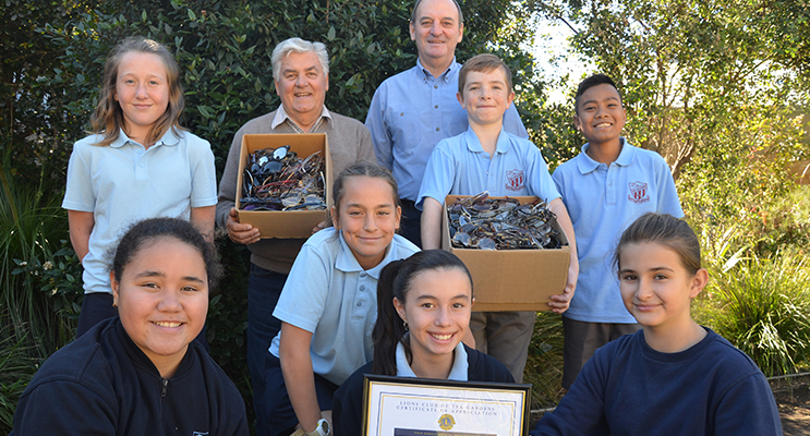 RECYCLE FOR SIGHT PROGRAM: Tea Gardens Primary and Lions Club join forces.