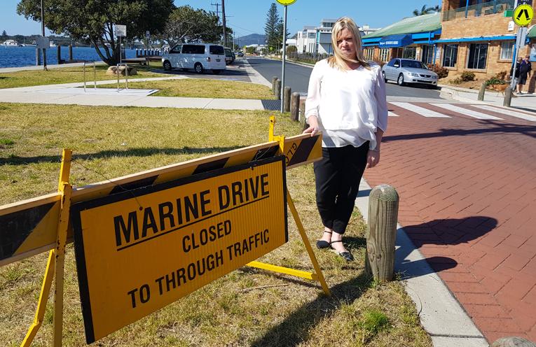 MARINE DRIVE SPEED LIMIT: Kylie French.