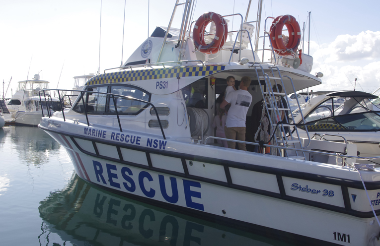 Marine Rescue Boat open for inspection.   Photos by Marian Sampson.