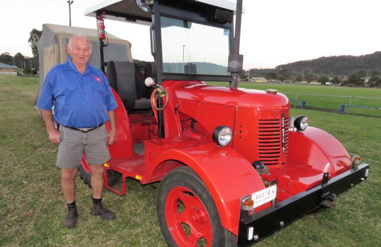 Geoff Bryce with his 1950 David Brown Cropmaster.