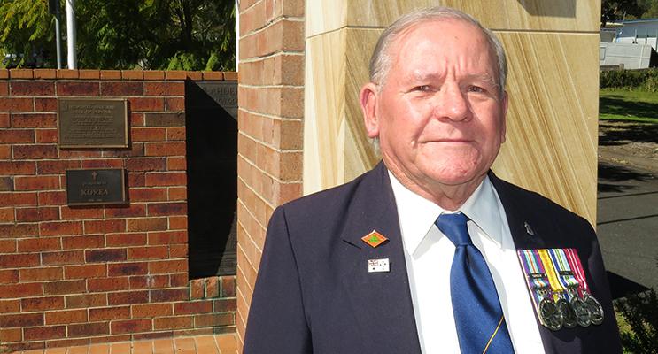Bulahdelah RSL sub branch President, Peter Millen served in the Royal Australian Navy.