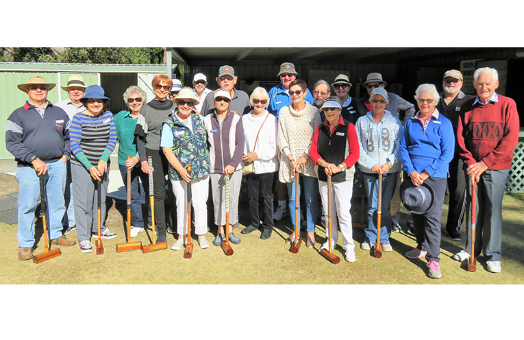 Port Stephens Probus Club at Croquet with Nelson Bay Croquet Club.