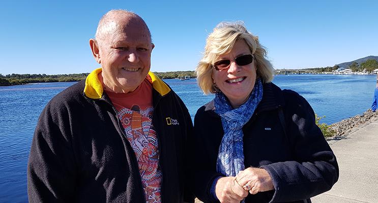 PROGRESS ASSOCIATION: Gordon Grainger and Patricia Garrard.