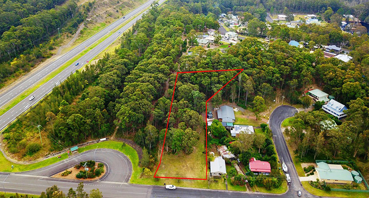 NESTLED at the entrance to Nerong, this large 3723sqm block has been partially cleared and level at the front, then gently slopes at the rear.