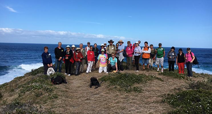 The intrepid walkers on Treachery Headland.