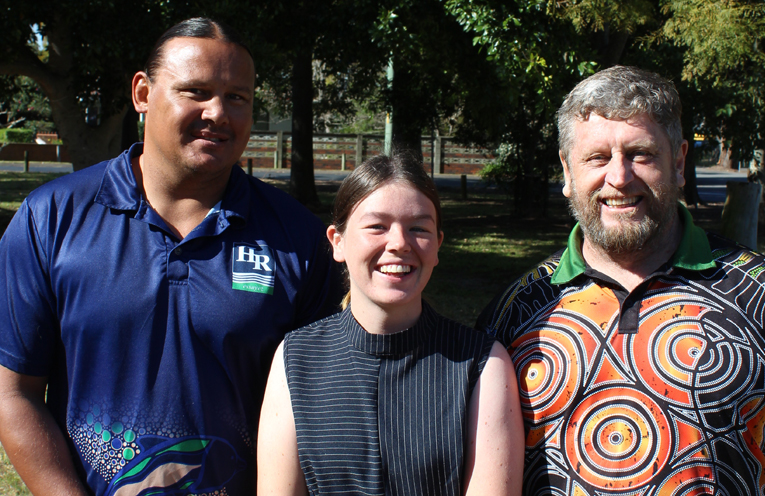First all-Aboriginal team of Brooke Roach, Alannah Newell and Peter Kafer.