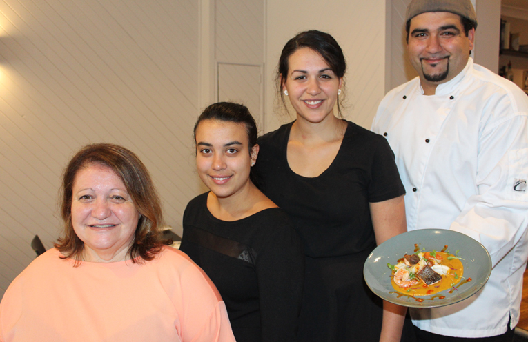 All in the family at Sienna's: Mum Anna Lauricella, daughters Angelica and Marcella and son Andrea.