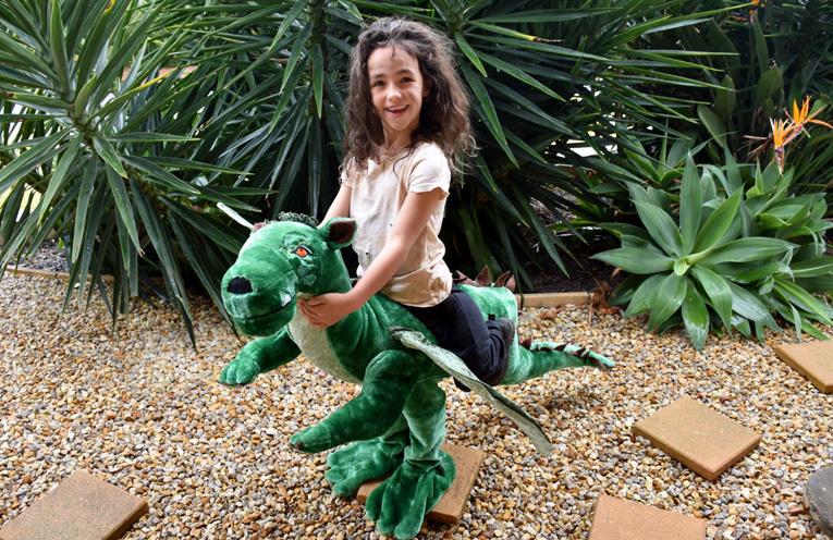 Ryah Coates from Medowie Public School as Pete the Dragon.