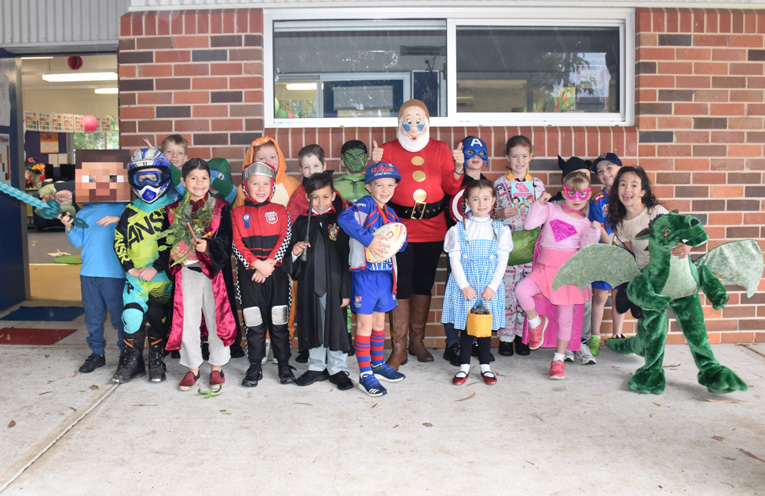 A class at Medowie Public School dressed up for book week.