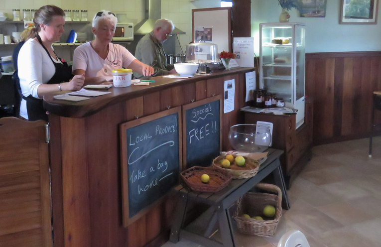Volunteers at the Brush Turkey Cafe.
