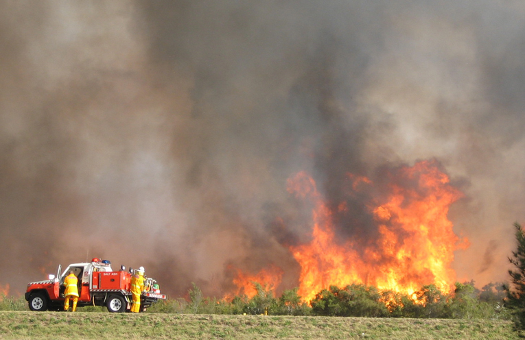 An out-of-control fire at Mallabula.