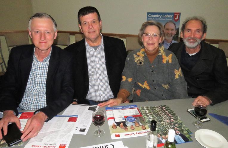 Group J: Country Labor team headed by Dr David Keegan, Graham Robinson, Gaye Tindall and John Weate.