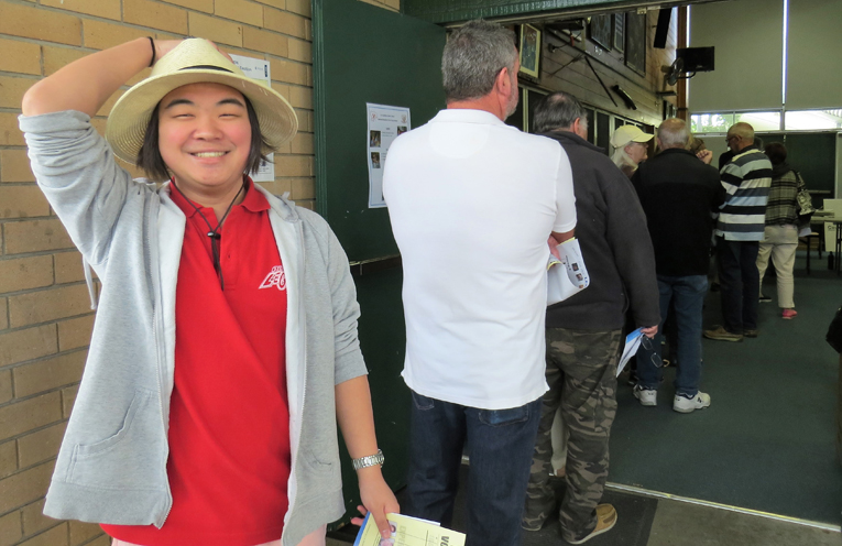 Tim To is eager to cast his vote in Tea Gardens.