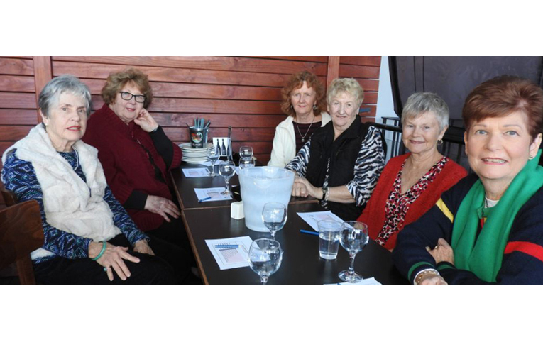 Lynn Moffitt, Margaret Marlin, Vicki Archer, Ruth Churcher, Sandra Huckstep and Verlaine Griffith. Photo by Norman Martin