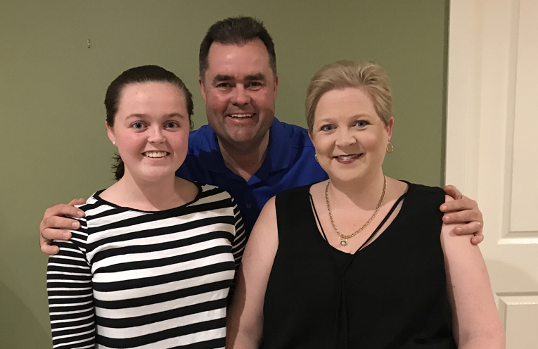 Nicole, Jason and Kiara Dawe are loving their fostering experience.