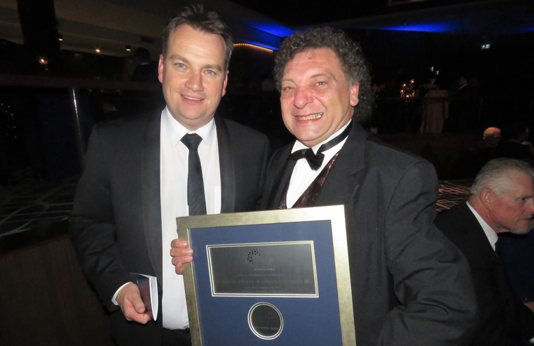Duncan Burck from the NSW Business Chamber and Bulahdelah Chamber President, John Sahyoun.