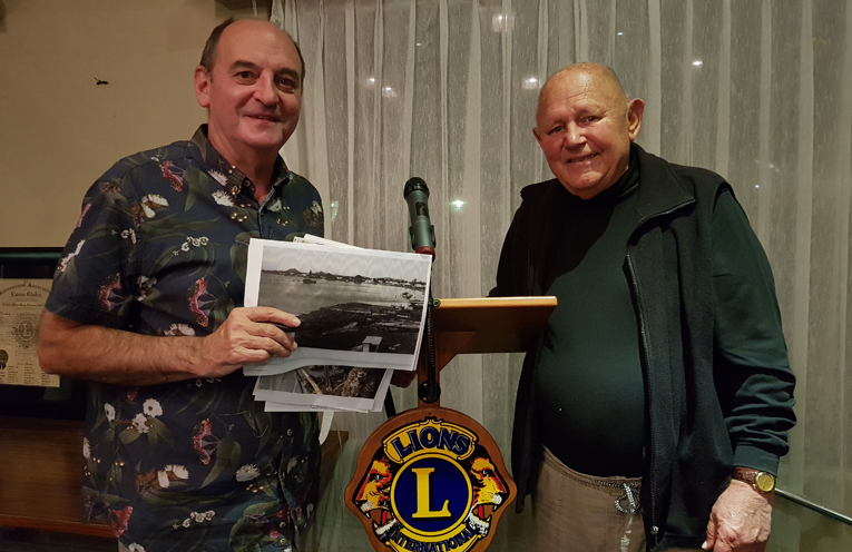 LIONS SUPPORT: Gordon Grainger, Myall River Action Group.