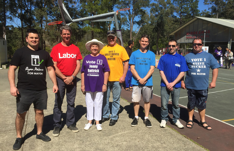 Representatives working together and polling for Ryan Palmer, Country Labor, Jenny Battrick, Sally Dover, Geoff Dingle, Chris Doohan and Steve Tucker.