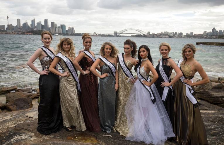 Miss Multiverse Australia 2017 national finalists.