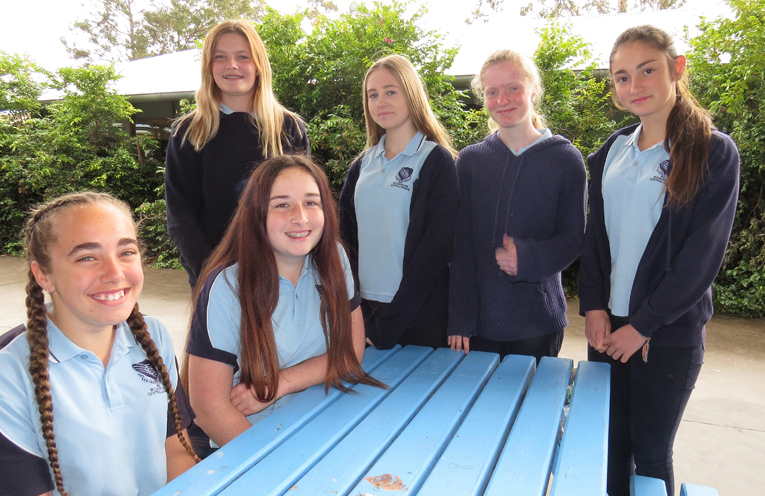 BCS Year 9 students Tahlia Mancini, Anjoli Luxon, Natasha Veith, Taylah Smith, Bianca Clarke and Katerina Poniris are pleased with their NAPLAN results.