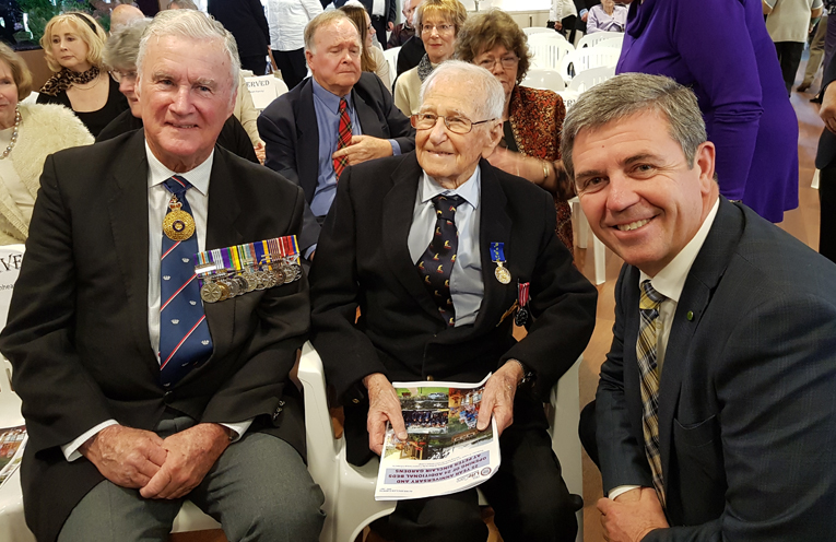 OAM AWARDED: Rear Admiral Peter Sinclair, Dr Allan Stewart and Dr David Gillespie MP.